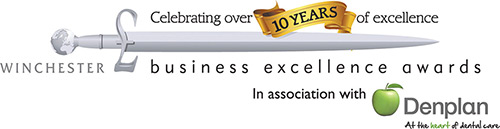 Logo for Winchester business excellence awards in association with Denplan